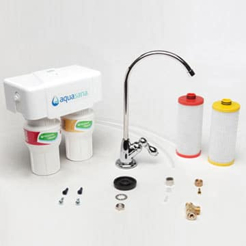 Aquasana 2 stage under counter drinking water filter