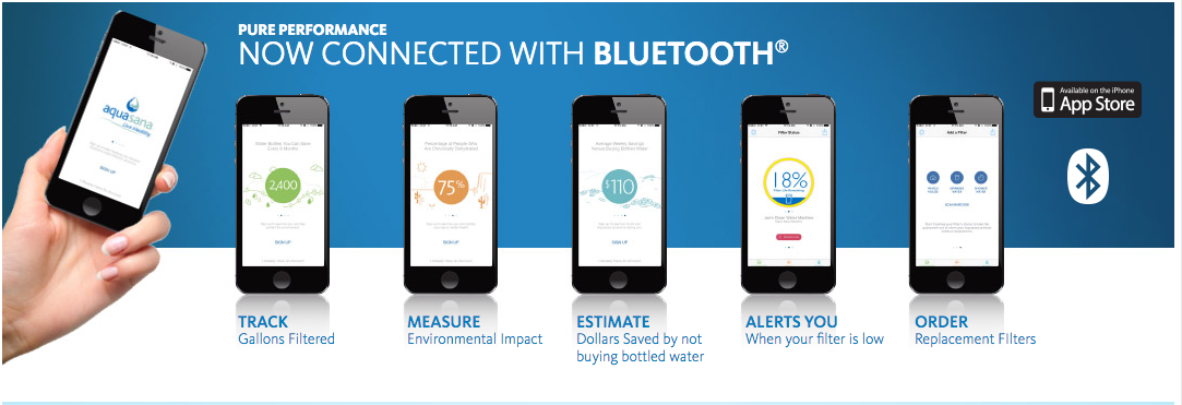 Aquasana Blue Tooth Connectivity